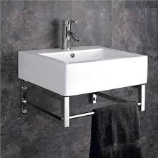 Wall Mounted Belfast Sink With Towel Rail Basin Sink Bathroom Cloakroom