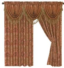 best of rust colored curtains and jacquard curtains with gold accent traditional