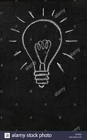 Light Bulb Symbol Copy And Paste Light Bulb Drawn On A Blackboard With Copy Space Stock Photo