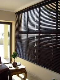 dark wood venetian blinds