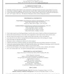Special Education Cover Letter Resume Example Collection
