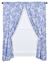 com victoria park toile 68 inch by 84 inch tailored panel pair with tiebacks blue home kitchen