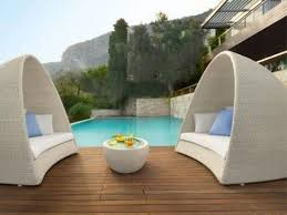 Round Outdoor Bed Outdoor Wicker Patio Furniture Round Canopy Bed Daybed Apartment
