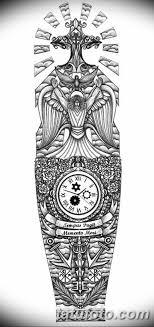 черно белый эскиз тату рукав на руку 11032019 031 Tattoo Sketch
