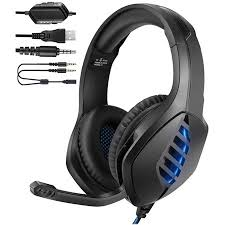 YJY <b>J1 Gaming Headset</b> for PS4, PC, Xbox One Controller ...