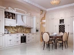 european style white kitchen