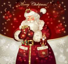 Ornate Greeting Card Of Santa Claus Vector Graphics 09 Free