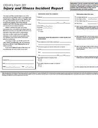 Osha Form 301 Free Download Create Edit Fill And Print