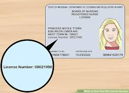 3 Wikihow Ways Your Find License Number Rn - To