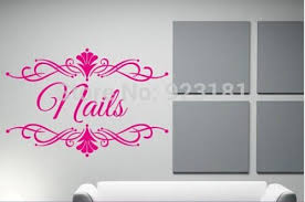 ome decor wall sticker personalised beauty salon spa custom business name wall art stickers decal diy home decoration wall mural removabl  on wall art business names with ome decor wall sticker personalised beauty salon spa custom business