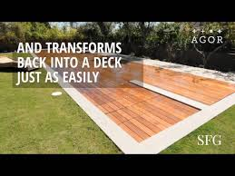 this deck doubles as a swimming pool