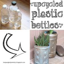 upcycled plastic water bottle planters a cool spray painting technique