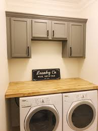 laundry room countertop best of farmhouse laundry room installing countertop and cabinets orc week