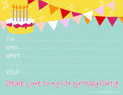 a cute printable th birthday invitation for boys or girls a cute printable 5th birthday invitation for boys or girls from