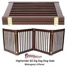 wooden dog gate within highlander 32 tall zig zag gates prepare 2