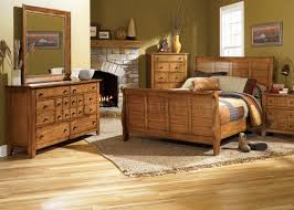 Mexican Rustic Bedroom Furniture Rustic Oak Finish Traditional Sleigh Bed W Optional Case Goods
