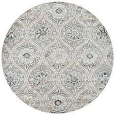 cire cherrington greige antique cream 8 ft x 8 ft round area rug