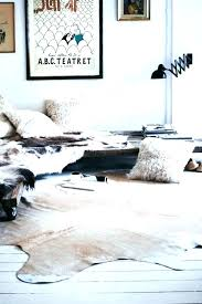 home and furniture fabulous faux hide rug of ivory printed cowhide area world market animal skin