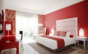 Fresh White And Red Bedroom Decor Color Ideas Contemporary At