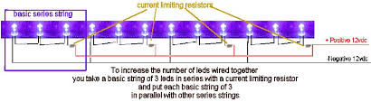 quickar electronics how to hook up leds choosing the correct how to wire lights in parallel with switch diagram click here for an interesting paper published by osram optoelectronics detailing wiring groups of leds together