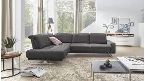 Interliving Sofa Serie 4250 Eckkombination Anthrazitfarbener Bezug Moses 18 Metallsockel Stellfläche Ca 215 X 280 C