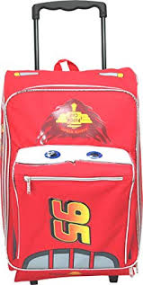 Disney Pixar <b>Cars</b> 2 Rolling <b>Lightning McQueen Luggage Suitcase</b>