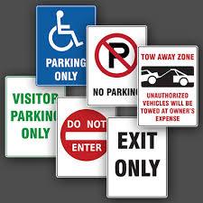 Parking Sign Printing Toronto Design Print Custom Metal Signs
