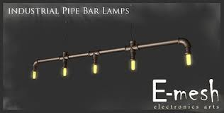 Industrial track lighting industrial track lighting zoom Bathroom Emesh Industrial Pipes Bar Lamp Affordable Lamps Second Life Marketplace Emesh Industrial Pipes Bar Lamp