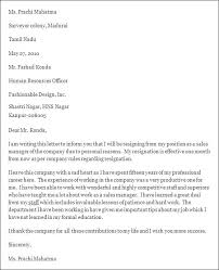 Stylish Resignation Letter Format Sample Resignation Letter 7 ...