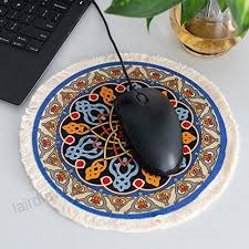 round rug mouse pad oriental persian fl mouse mat coaster blue orange red gold b076vnqx