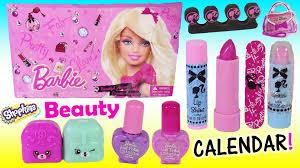 barbie makeup calendar 24 days of beauty lip gloss lipstick eyeshadow kins you