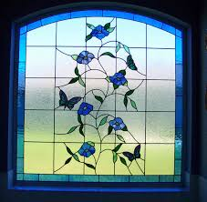 Stained Glass Window Designs For Bathrooms Custom Stained Glass Window For A Bathroom Made By Designer