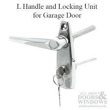 garage door handle lock l handle and locking unit for garage door chrome garage door handle