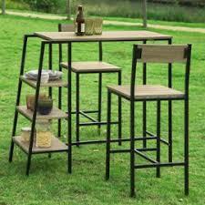 Sobuy® Ogt16-N Set De 1 Table + 2 Chaises Ensemble Table De Bar Bistrot