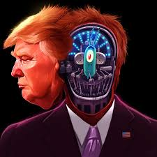 Image result for hí họa tt trump