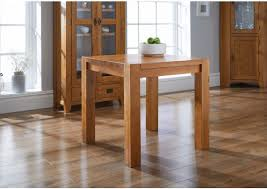 country oak 80cm square chunky corner leg small dining table