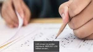 LGS soruları ve yanıtları yayımlandı: MEB 2021 LGS imtihan soruları  kitapçığı ve karşılık anahtarı - Haberi Ara