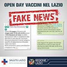 No, non esiste l'open day vaccini nel Lazio