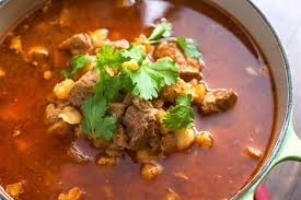 slow cooker red posole authentic rojo posole soup recipe with pork and hominy