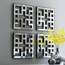 mirrored wall art decor mirrored wall decor fretwork square mirror framed wall art d mirror art mirrored wall art