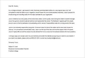 College Recommendation Letter 10 Free Word Excel Pdf Format