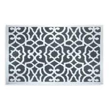 scroll jacquard inch x ring spun cotton bath rug gray and white ralph lauren