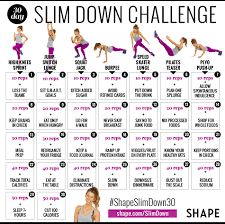 Monthly Weight Loss Chart Lose Weight This Month With Our 30 Day Slim Down Challenge
