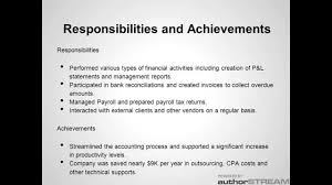 Accountant Achievements In Resume Key Achievements In Resume