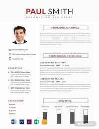 Free Assistant Accountant Resume Template Word Psd