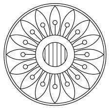 Disegno Di Mandala Con Motivo A Fiori Da Colorare Disegni Da