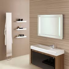 bathroom furniture designs. Interior. White Wash Basin On Brown Wooden Bathroom Vanity Connected By Three Shelves Furniture Designs N