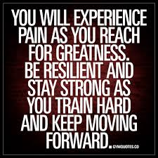 You Will Experience Pain As You Reach For Greatness Be Resilient Quote