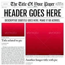 Microsoft Newspaper Template Free Newspaper Template Download