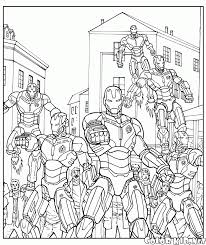 Get your free printable robots coloring pages at allkidsnetwork.com. Coloring Page Ultron Robot Army